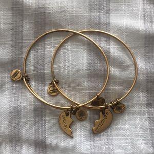 Alex and Ani Heart Best Friend Bracelets Gold